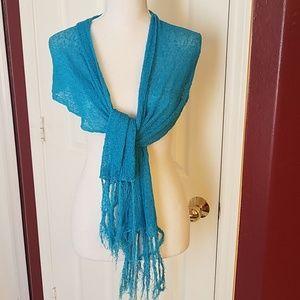 Gauzy, stretchy scarf/wrap. Bundle this!